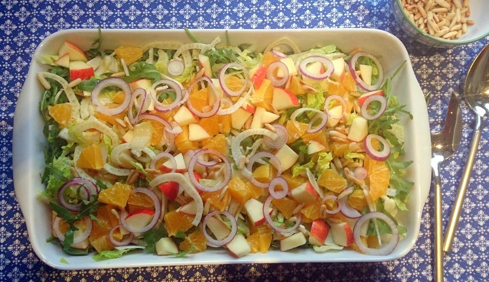 salat med appelsin