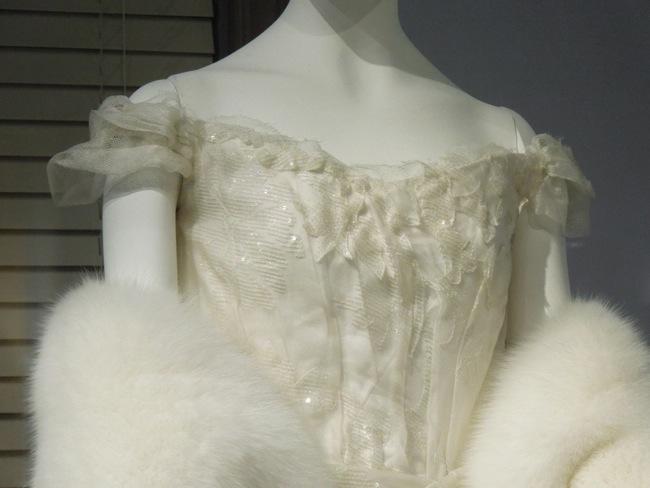 Anna Karenina white opera gown detail