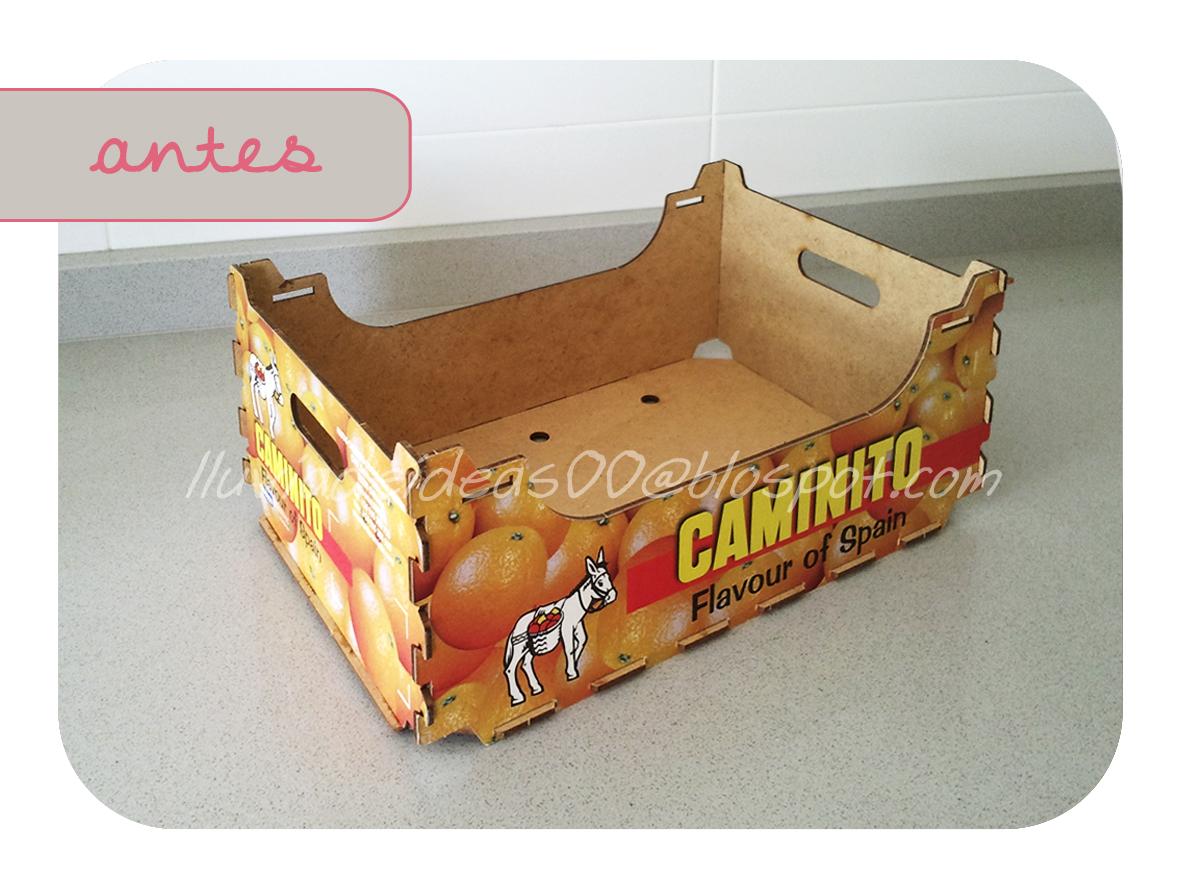 Lluvia de ideas diy reutilizar cajas de frutas - Caja de frutas de madera ...