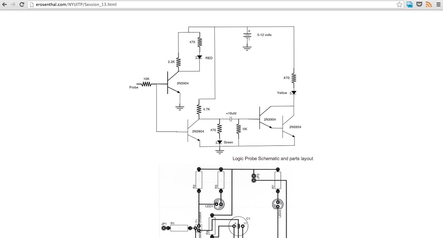 Basic Analog Circuits Logic Probe Circuit Diagram Http Erosenthalcom Nyuitp Session 13html