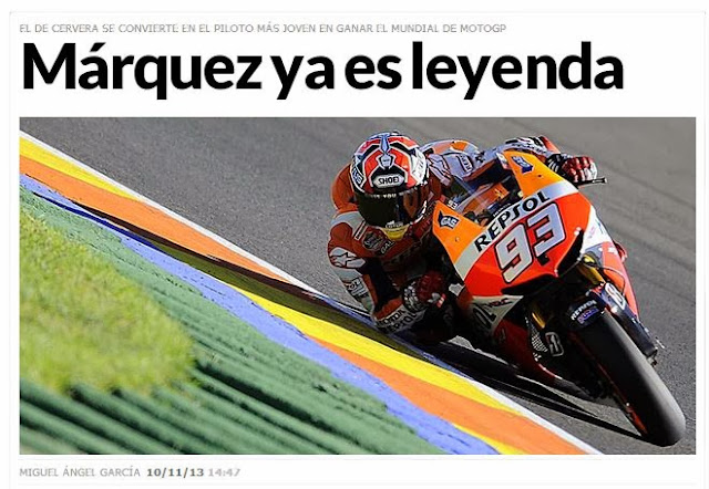 Marc Márquez gana su primer mundial de MotoGP