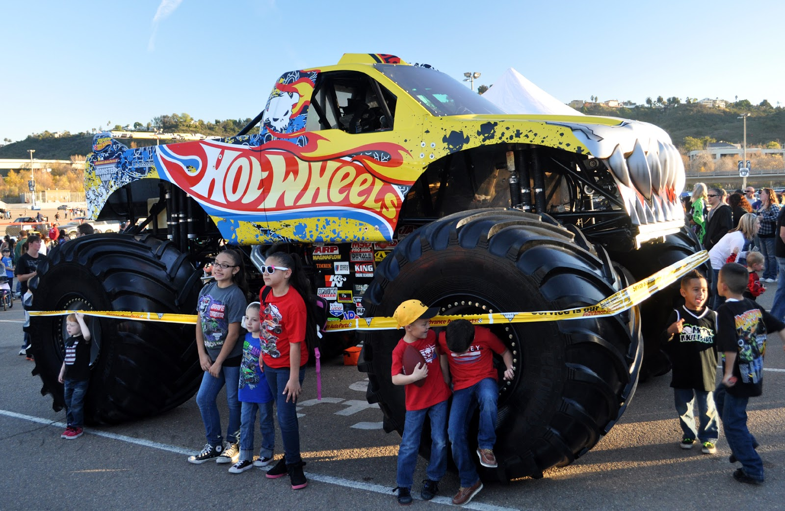 Monster jam san diego 2013 in the pit party area that you can get free admittance to if you stop by a ford dealership and pick up a pass