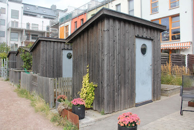 garden shed for each of the European Village houses