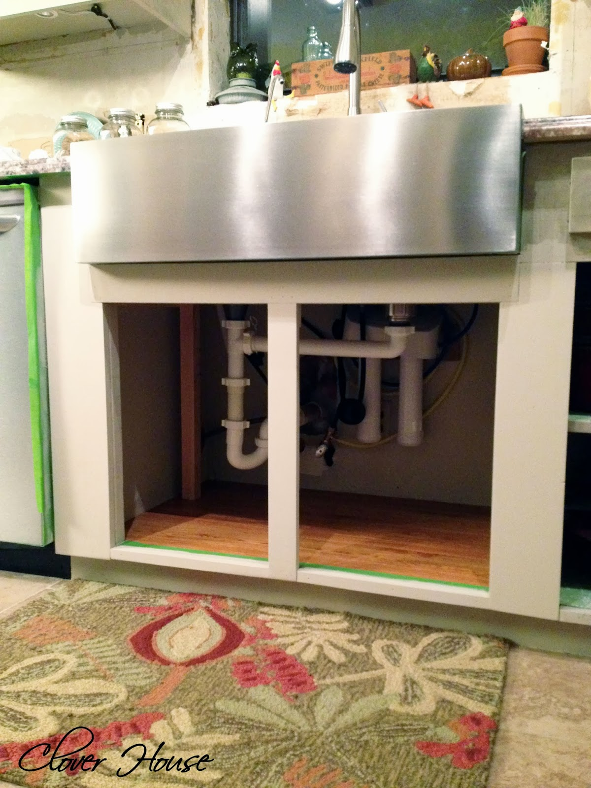 Since We Didnu0027t Really Know Where The Cabinet Doors Would Be Before We  Installed The Sink And Faced Out The Front Of The Cabinets, ...