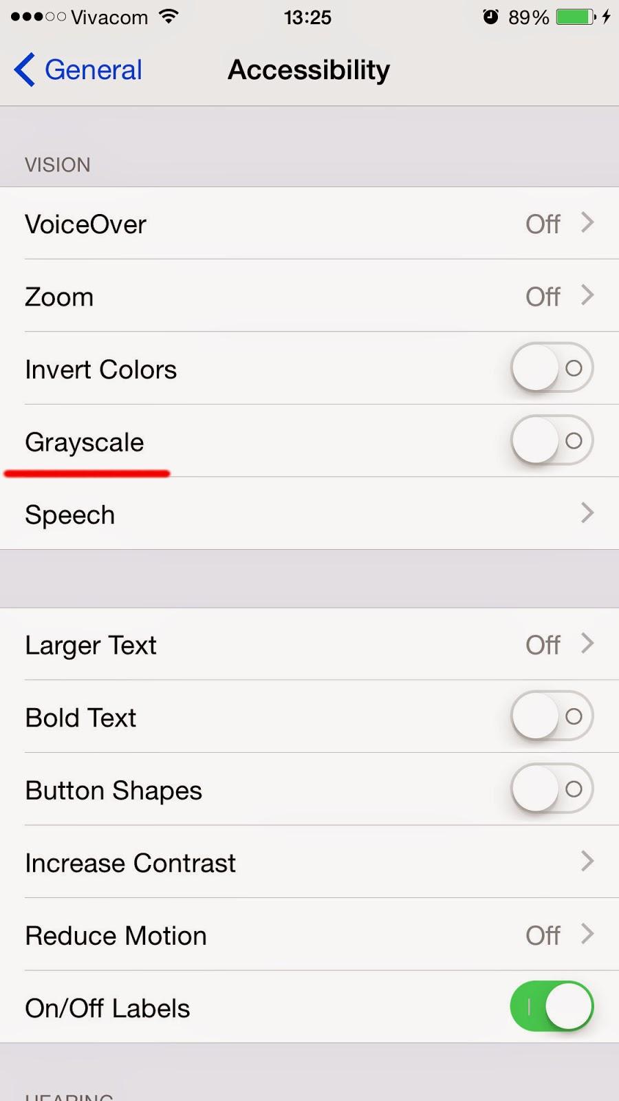 Chuyển sang chế độ màn hình đen trắng trên điện thoại iPhone