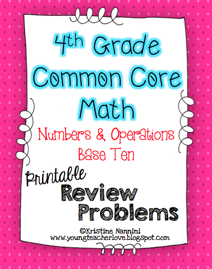 Math Review Printable Problems! | Young Teacher Love