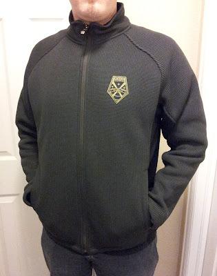 XCOM jacket with insignia patch