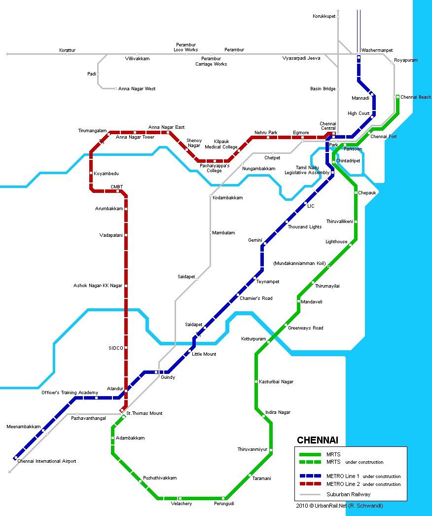 chennai metro rail network map