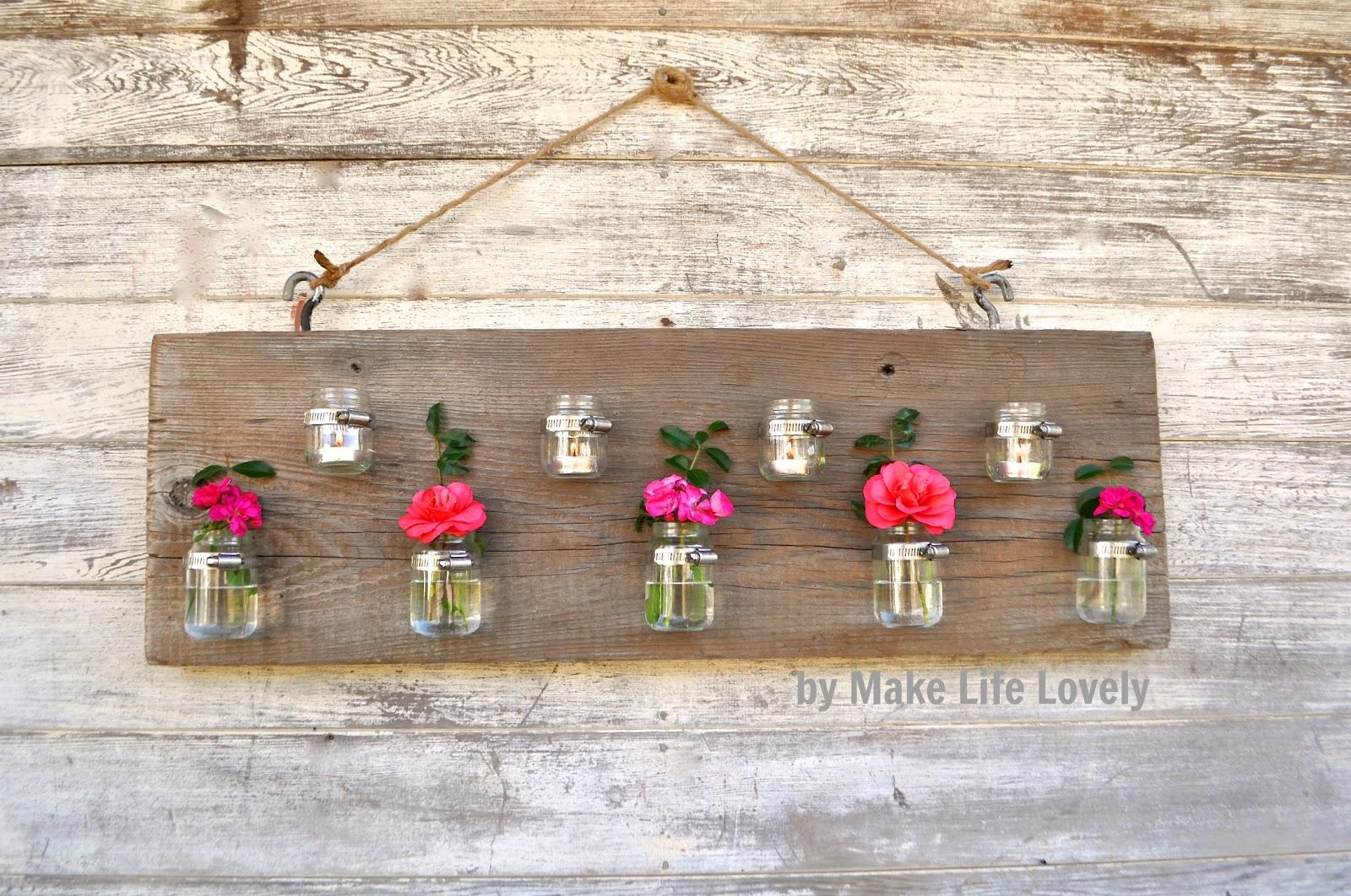 Wooden candle holders crafts - Diy Baby Food Jar Vase Candle Holder