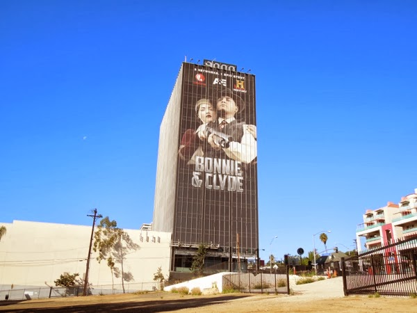 Giant Bonnie and Clyde billboard Sunset Strip