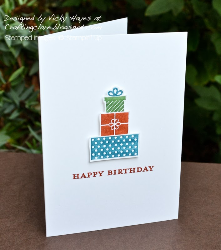 join stampin up, one layer wishing you card