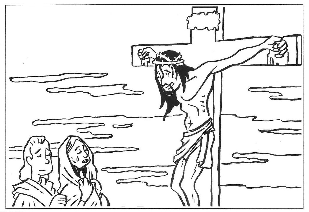 Drawings to color Easter Week: Jesus Crucified coloring ~ Child Coloring