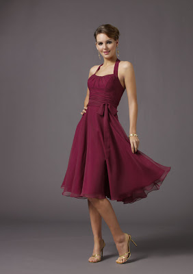 Red Organza Bridesmaid Dress