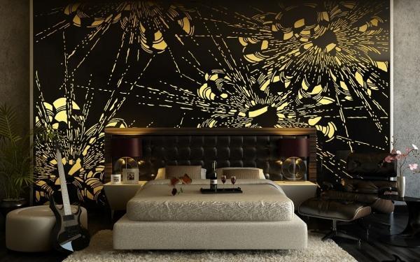 Dormitorios con paredes elegantes dormitorios con estilo - Decoracion paredes habitacion ...