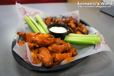 Buffalo Wings Platter at Chuck E. Cheese's in California