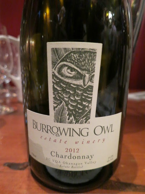 Wine Review of 2012 Burrowing Owl Chardonnay from BC VQA Okanagan Valley, British Columbia, Canada (90+ pts)