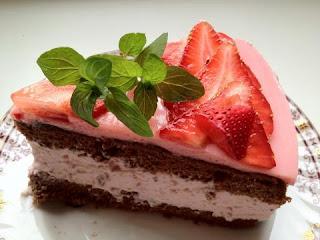 Клубнично-шоколадный десерт