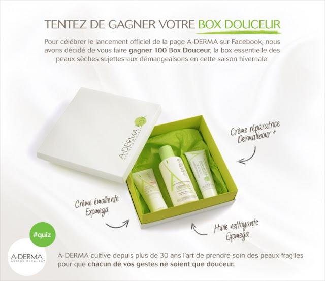 Jeu Concours A-Derma 100 Box Douceur à gagner !