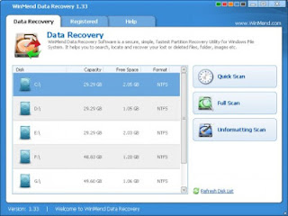 WinMend Data Recovery - is an application to recover data from hard drives, Compact Flash, Memory Stick and other media. Recover files and data