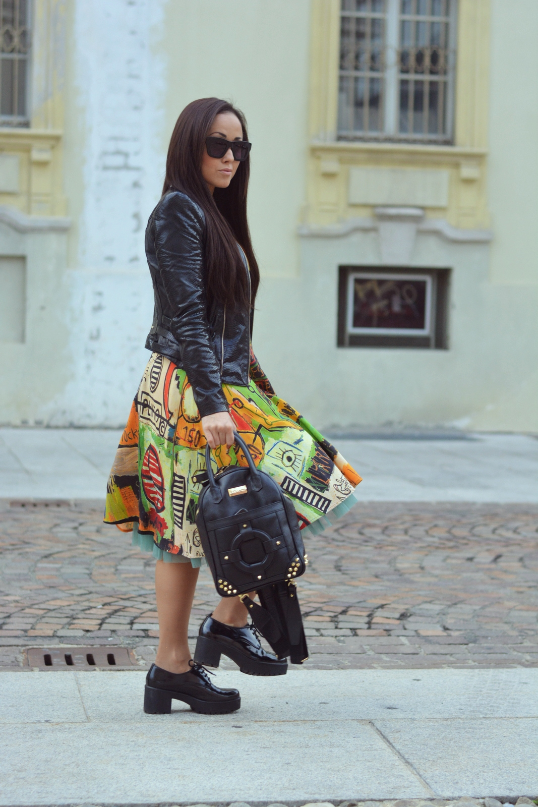 Jessica Neumann , ultrachic milano, mangano, Deichmann, Modern princess, outfit, printed, made in Italy, Street Style, Culture & Trend Magazine,