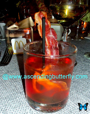 Old Fashioned Cocktail with Applewood Smoked Bacon by Chef Jessica Faust, RD