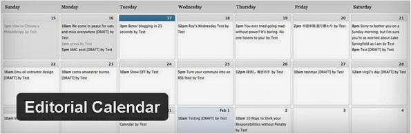 Editorial Calendar plugin for WordPress