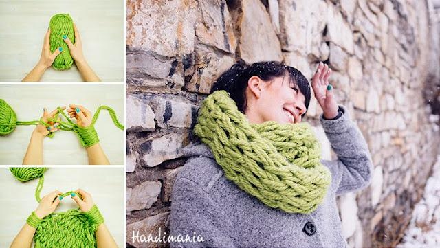 Bufanda hecha a mano en 30 Minutos