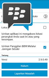 Update Terbaru BBM Official Versi 2.9.0.49