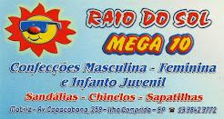 RAIO DO SOL MEGA 10 Loja de Variedades Grandes Variedades de Brinquedos