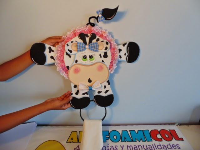 Mis fofuchas 2013 artfoamicol vaquita decorativa en foami - Decoracion de cocina con vacas ...