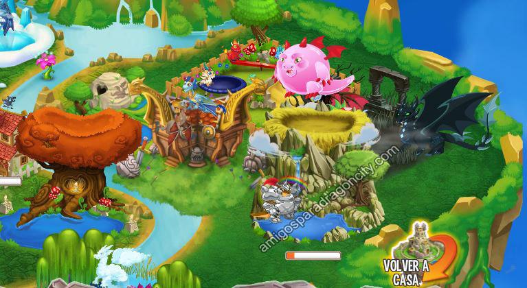 armadillo y chicle en el nido de reproduccion de deus de dragon city