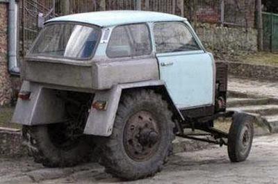 Trabant trafiquée en tracteur