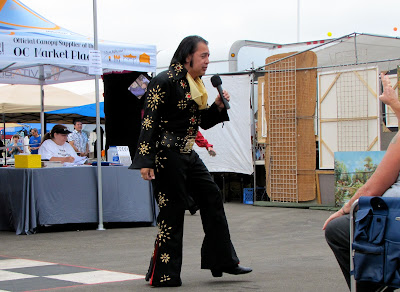 crowd working asian Elvis at the Orange County Elvis Festival, Orange County Fairgrounds, Costa Mesa, CA #Elvisfest #Elvis #California www.thebrighterwriter.blogspot.com