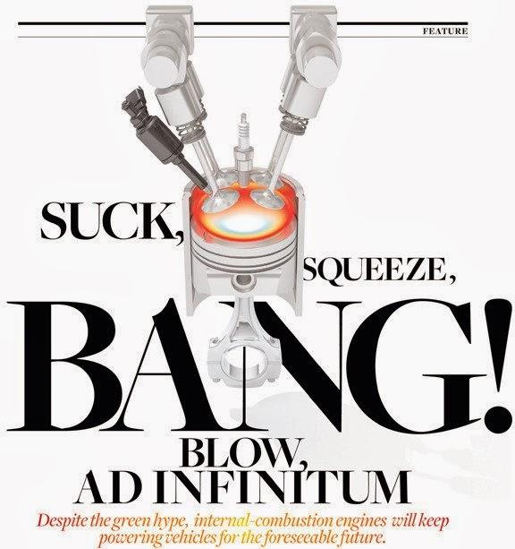 Internal combustion engine design suck squish bang blow