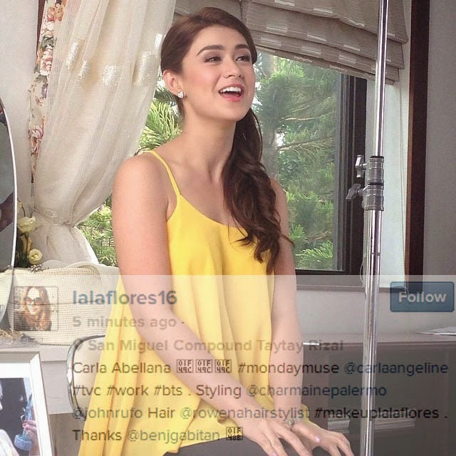 Is Carla Abellana replacing Marian Rivera as San Miguel Beer endorser?