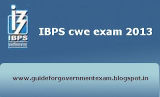 IBPS cwe exam 2013