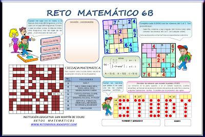retos matematicos, problemas de ingenio, desafíos matemáticos, problemas de ingenio matemático, matemática divertida, Sudoku, Cruzapalabras, Cruzada Matemática