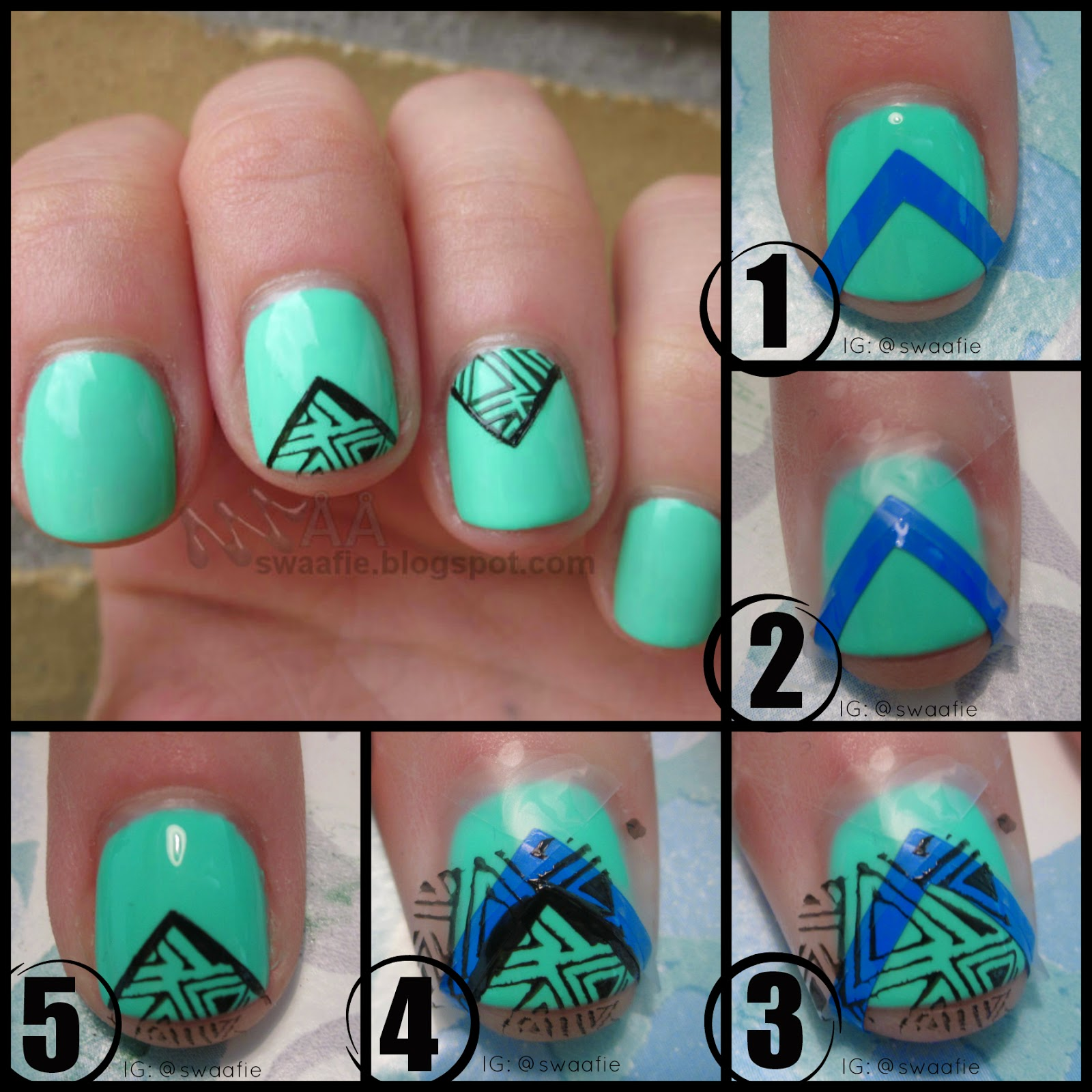 S W Å Å F I E: Happy Monday - Neon: Triangular Turquoise