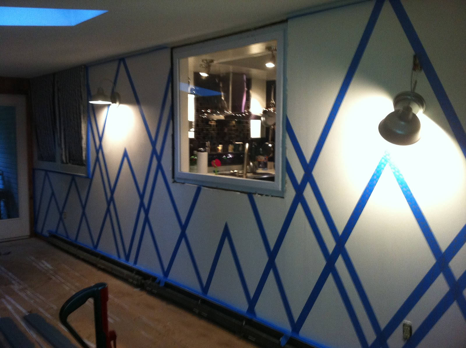 Decor4poor painters tape design wall - Design painting of wall ...