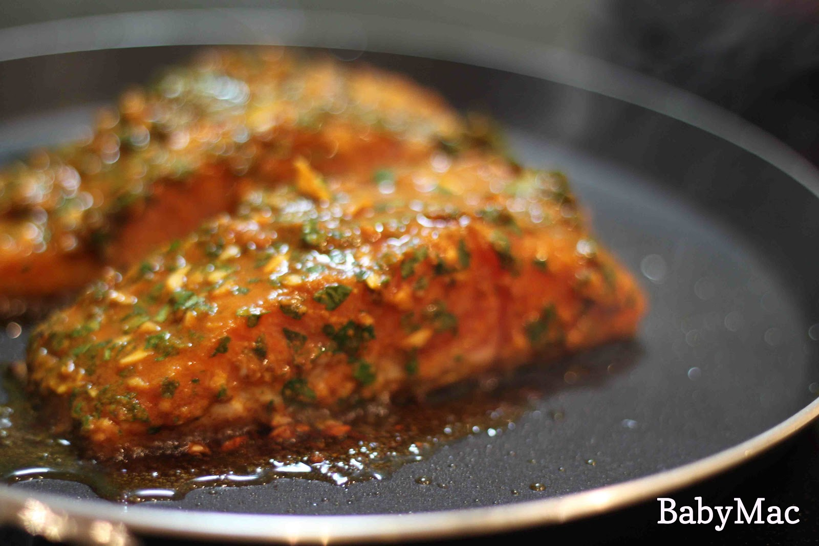 Just call me Bev: Moroccan spiced salmon - BabyMac