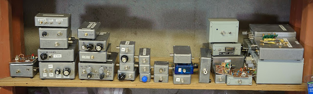 Some of my (mostly) 50 Ω homebrew bench modules for test and measurement