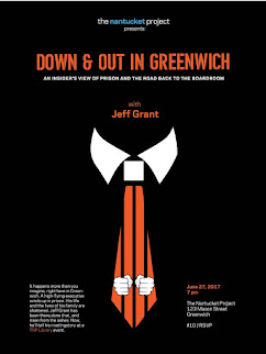 Event: Down & Out in Greenwich CT, Tues., June 27, 2017, 7 - 8:30 pm