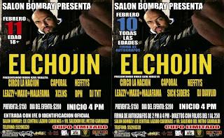 El Chojin en México 2012 Salón Bombay