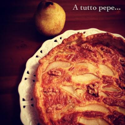 torta rustica al gorgonzola, pere e noci... e le unioni perfette!