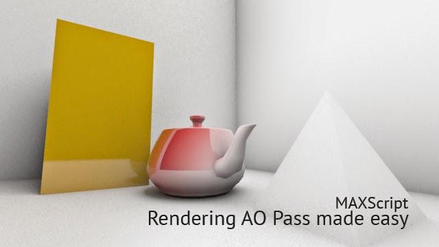 MaxScript Render AO Pass