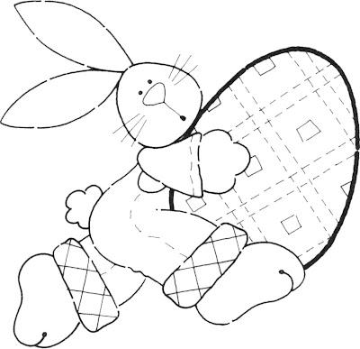 Desenho de Páscoa para colorir