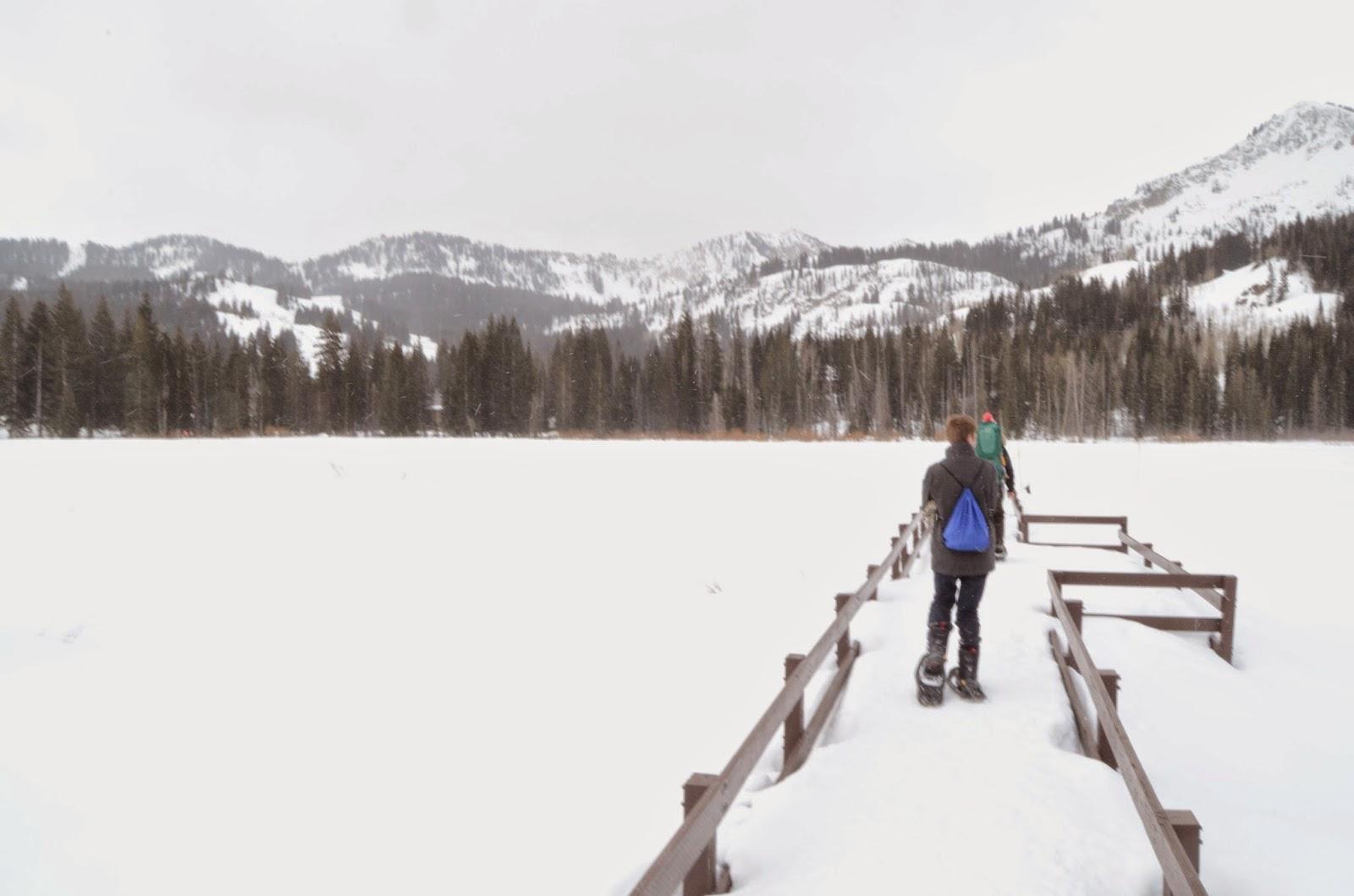 Snowshoeing at Solitude Nordic Center
