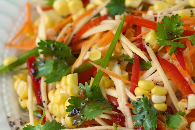 Summer Salad w/ Asian Strawberry Poppy Seed Vinaigrette | The Café ...