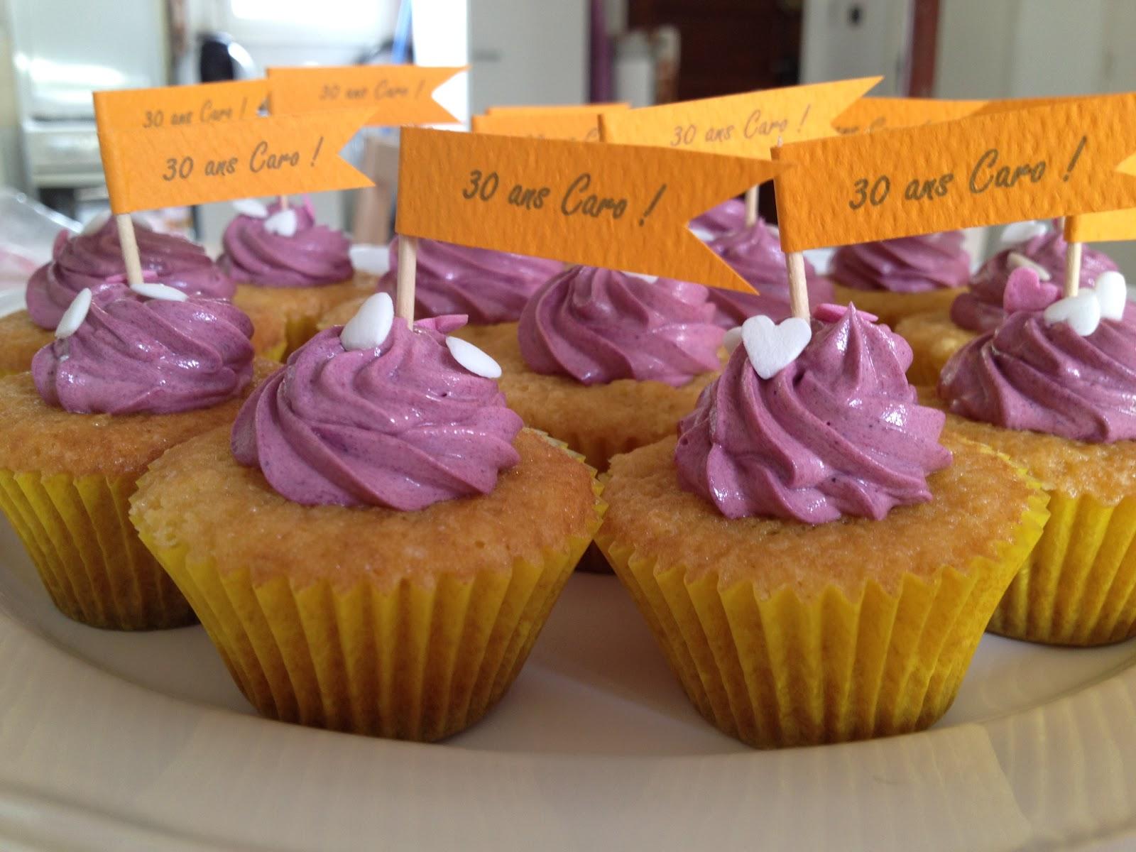 cupcakes anniversaire 30 ans