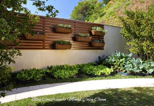 aplicacao deck jardim:Construindo Minha Casa Clean: Deck de Madeira na Parede!!!